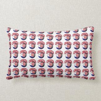 Flag of Croatia Soccer Ball Lumbar Cushion