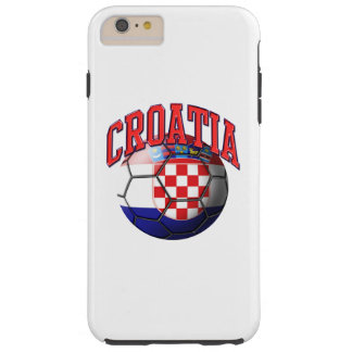 Flag of Croatia Soccer Ball Tough iPhone 6 Plus Case