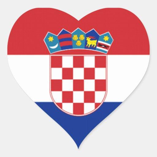 Flag of Croatia Heart Sticker