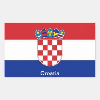 Flag of Croatia Rectangular Sticker