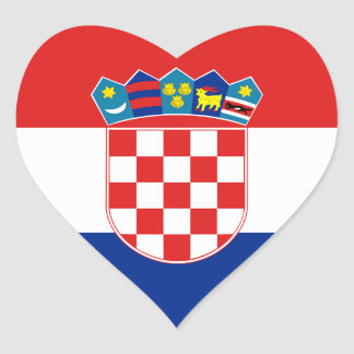 Flag of Croatia Sticker (Heart)