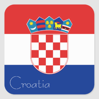 Flag of Croatia Sticker (Square)
