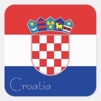 Flag of Croatia Sticker (Square)