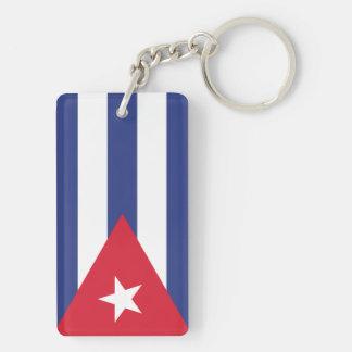 Flag of Cuba Double-Sided Rectangular Acrylic Key Ring