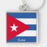 Flag of Cuba Key Chains