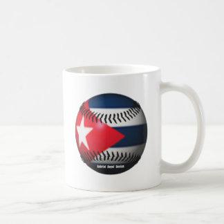 Flag of Cuba on a Baseball Coffee Mugs