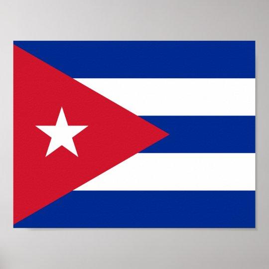 Flag of Cuba Poster