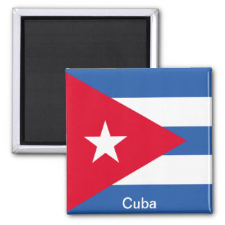 Flag of Cuba Square Magnet