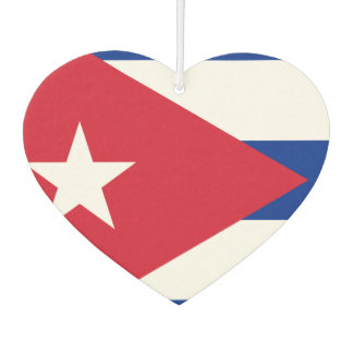 Flag of Cuban on metal background Car Air Freshener