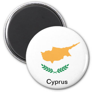 Flag of Cyprus 6 Cm Round Magnet