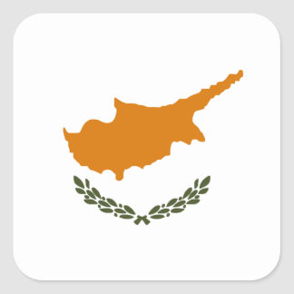 Flag of Cyprus Square Sticker
