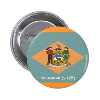 Flag of Delaware 6 Cm Round Badge