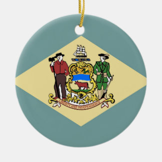 Flag of Delaware Christmas Ornament