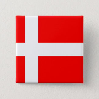 Flag of Denmark 15 Cm Square Badge