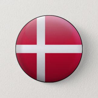 Flag of Denmark 6 Cm Round Badge