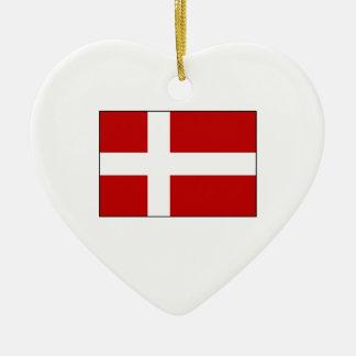 Flag of Denmark Christmas Ornament