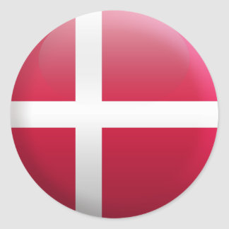 Flag of Denmark Classic Round Sticker