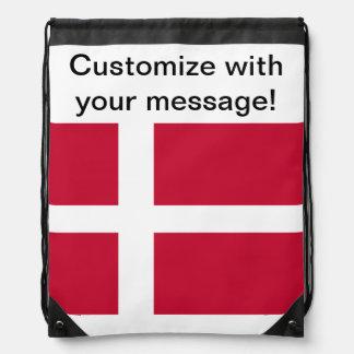 Flag of Denmark Drawstring Bag