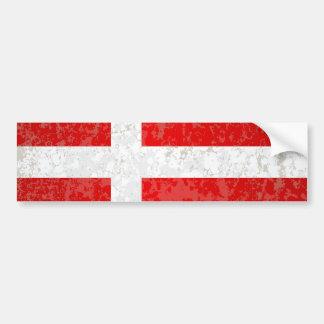 Flag of Denmark Grunge Bumper Sticker