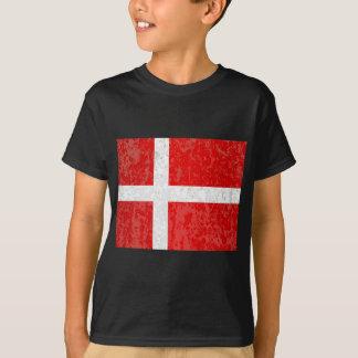 Flag of Denmark Grunge T-Shirt
