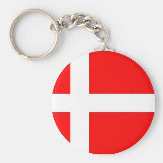 Flag of Denmark Key Ring