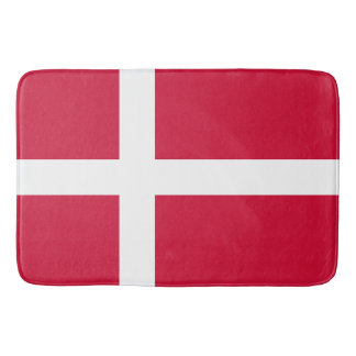 Flag of Denmark or Danish Cloth Bath Mat