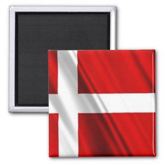 Flag of Denmark Square Magnet
