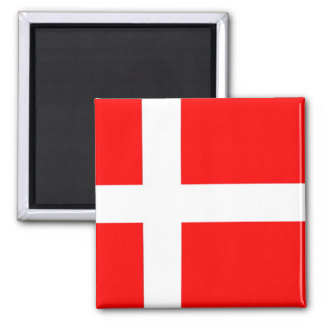 Flag of Denmark Square Magnet