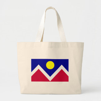 Flag of Denver Colorado Large Tote Bag