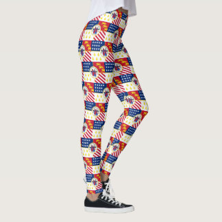 Flag of Detroit, Michigan Leggings