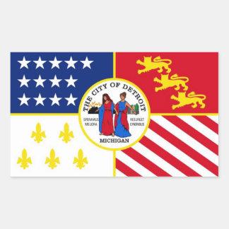 Flag of Detroit Rectangular Sticker