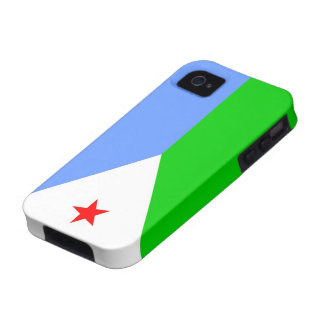 Flag of Djibouti iPhone 4 Cases
