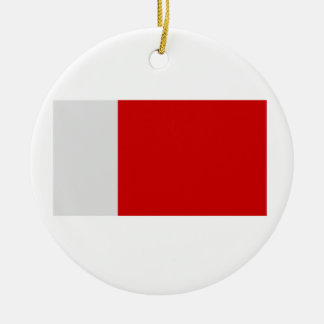 Flag of Dubai Round Ceramic Decoration