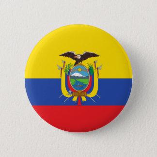 Flag of Ecuador 6 Cm Round Badge
