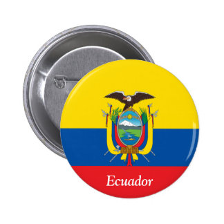 Flag of Ecuador 6 Cm Round Badge