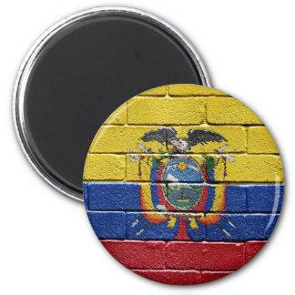 Flag of Ecuador 6 Cm Round Magnet
