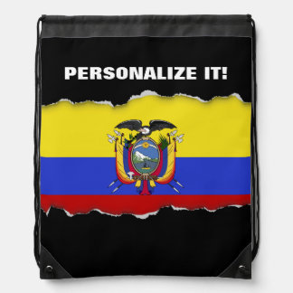 Flag of Ecuador Drawstring Backpacks