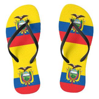 Flag of Ecuador Flip Flops