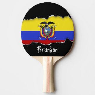 Flag of Ecuador Ping Pong Paddle