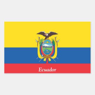 Flag of Ecuador Rectangular Sticker
