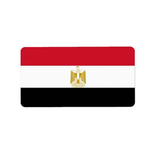 Flag of Egypt - علم مصر - Egyptian Flag Label