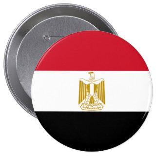 Flag of Egypt 10 Cm Round Badge