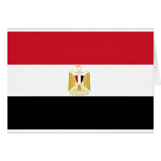 Flag of Egypt Greeting Card