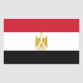 Flag of Egypt Rectangular Sticker