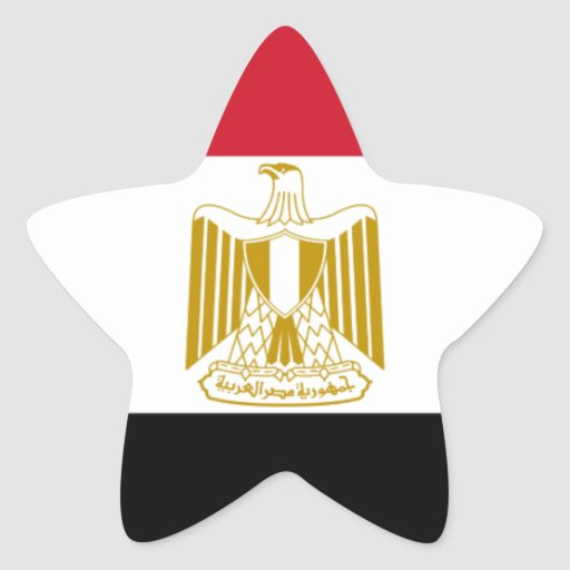 Flag of Egypt Star Stickers