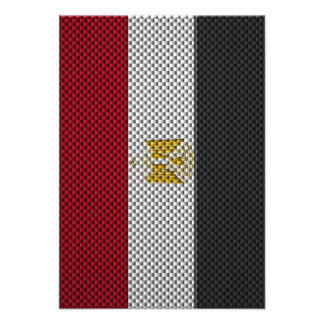 Flag of Egypt with Carbon Fiber Effect Announcement