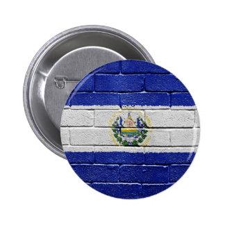 Flag of El Salvador 6 Cm Round Badge