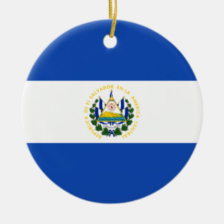 Flag of El Salvador - Bandera de El Salvador Christmas Ornament