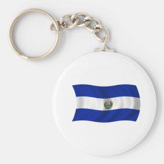 Flag of El Salvador Key Ring
