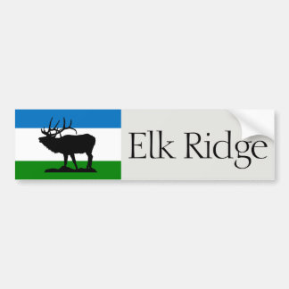 Flag of Elk Ridge, Utah bumper sticker